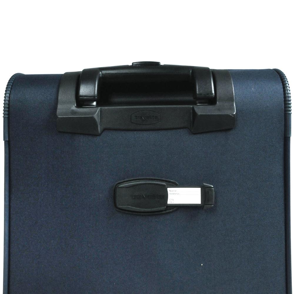 Маленький текстильный чемодан 53x37х20см Travelite Orlando синего цвета