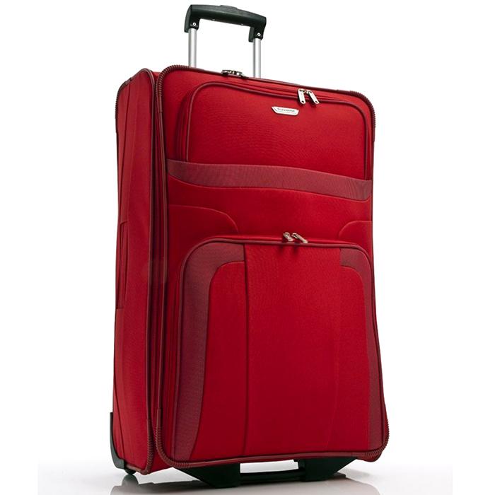 Чемодан красного цвета 73x47х26см Travelite Orlando на 2х колесах