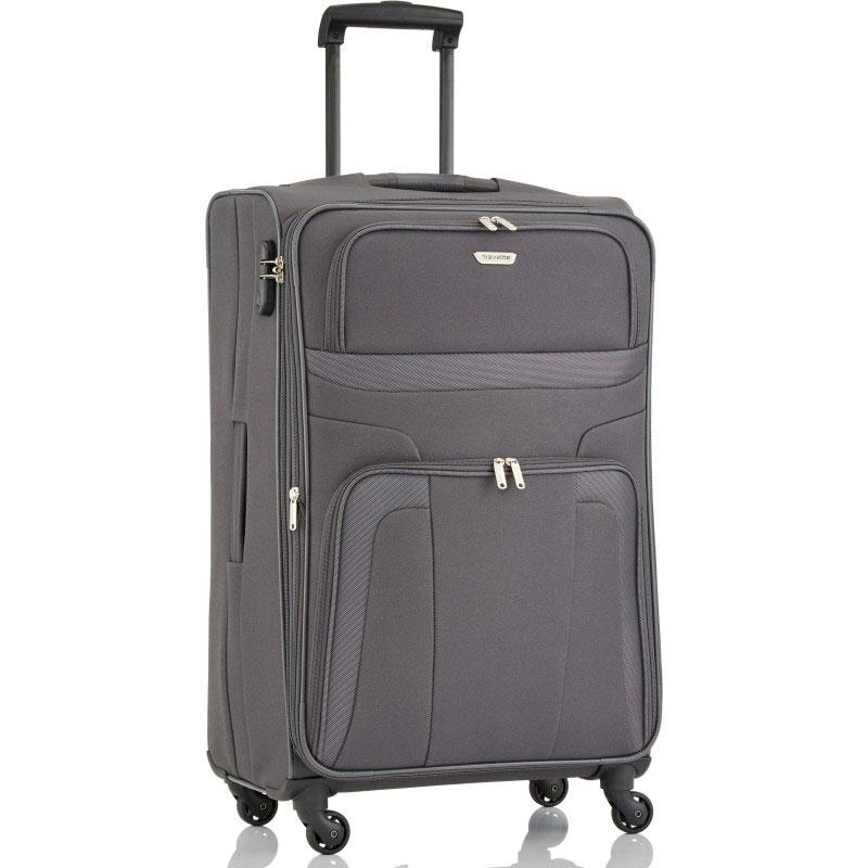 Большой чемодан 47x75x29см Travelite Orlando серого цвета