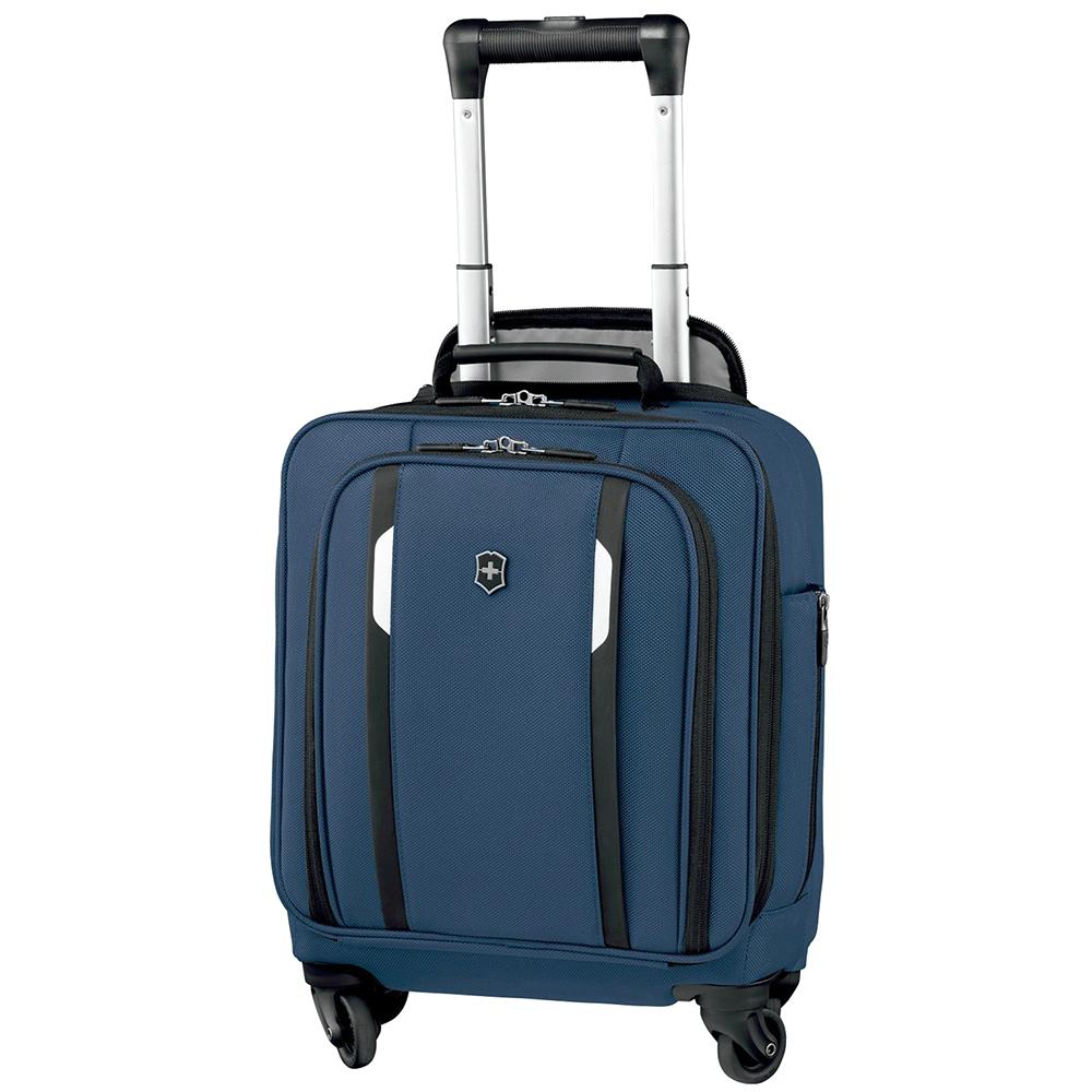 Синий маленький чемодан 44х36х25см Victorinox Werks Traveler 5.0 Wheeled Tote