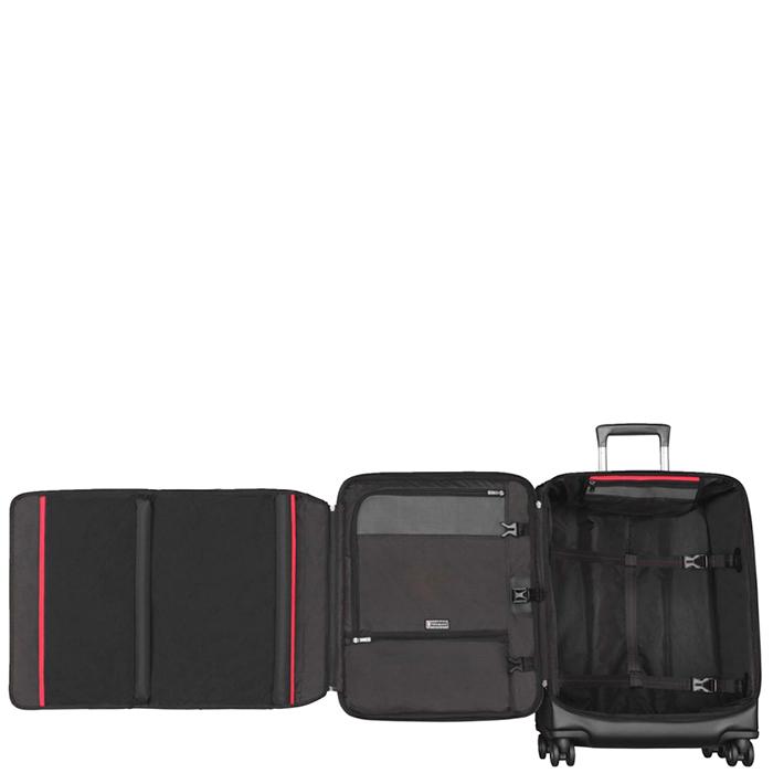 Среднего размера черный чемодан 63х42х30см Victorinox Vx One на молнии