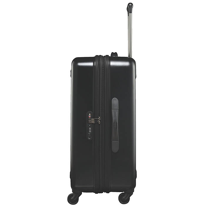 Среднего размера черный чемодан 67х45х30-34см Victorinox Etherius на молнии
