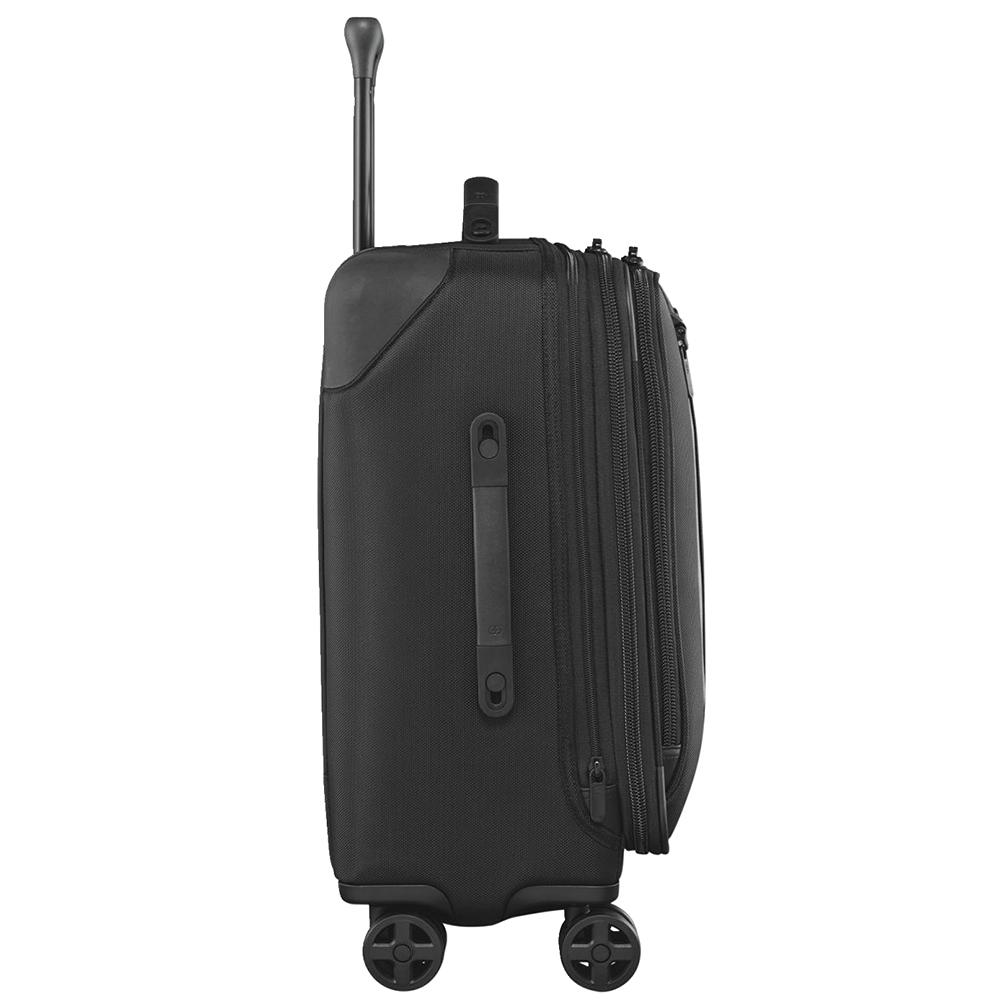 Черный чемодан маленького размера 56х40х25-29см Victorinox Lexicon 2.0 с функцией расширения