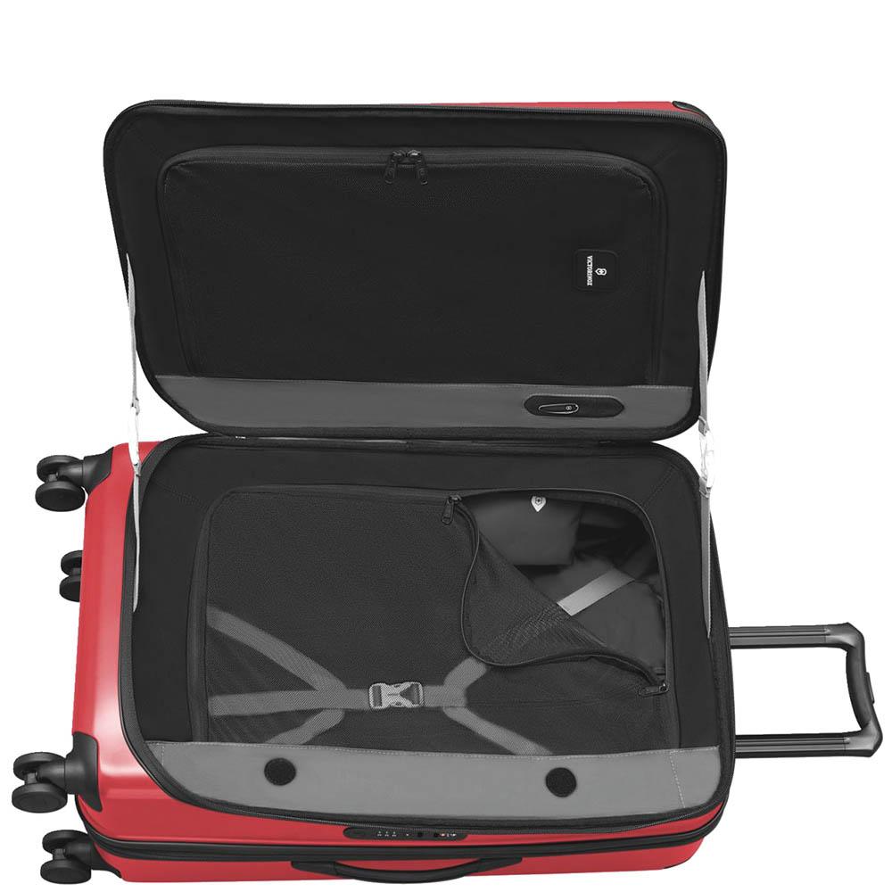 Большой красный чемодан 78х48х32-43см Victorinox Spectra 2.0 с функцией расширения