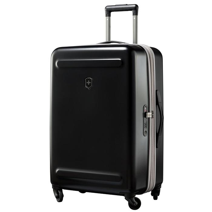 Черный чемодан 67х45х30см Victorinox Etherius среднего размера на молнии