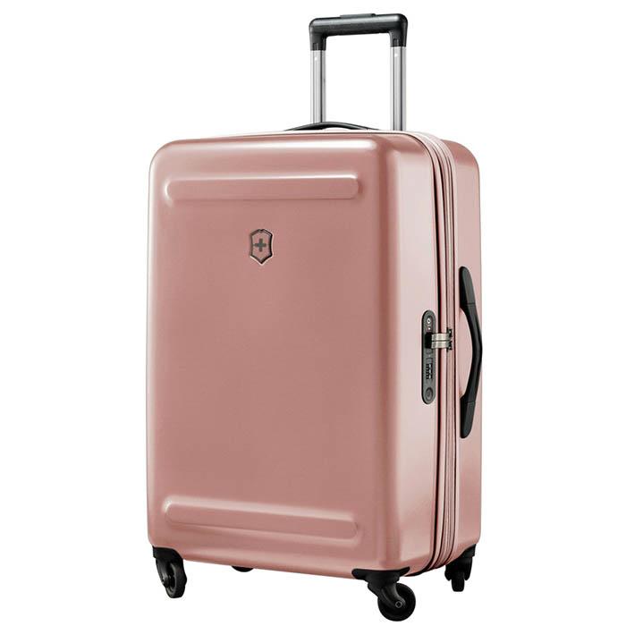 Чемодан розового цвета 67х45х30-34см Victorinox Etherius среднего размера