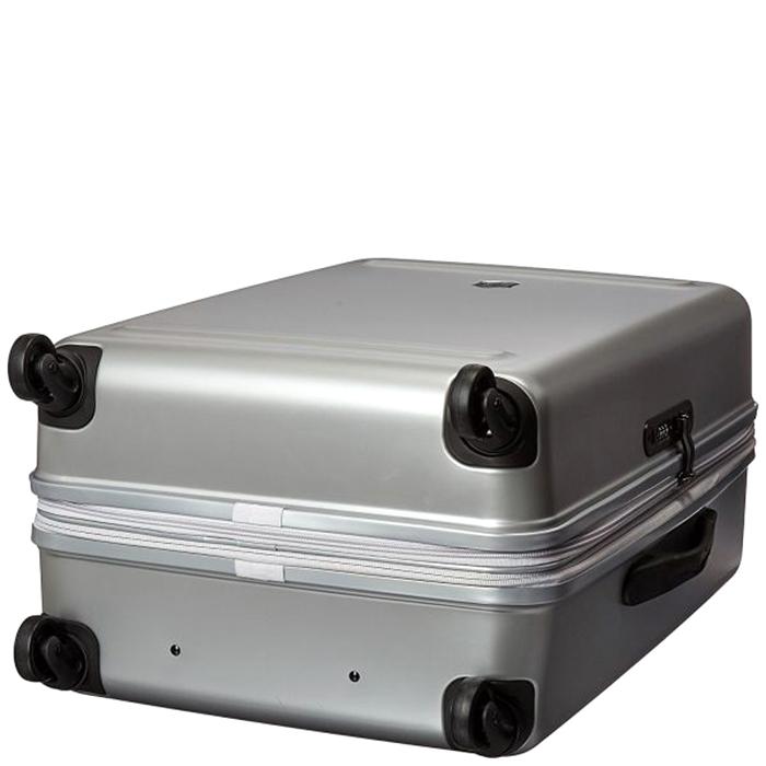 Серый чемодан 67х45х30-34см Victorinox Etherius среднего размера