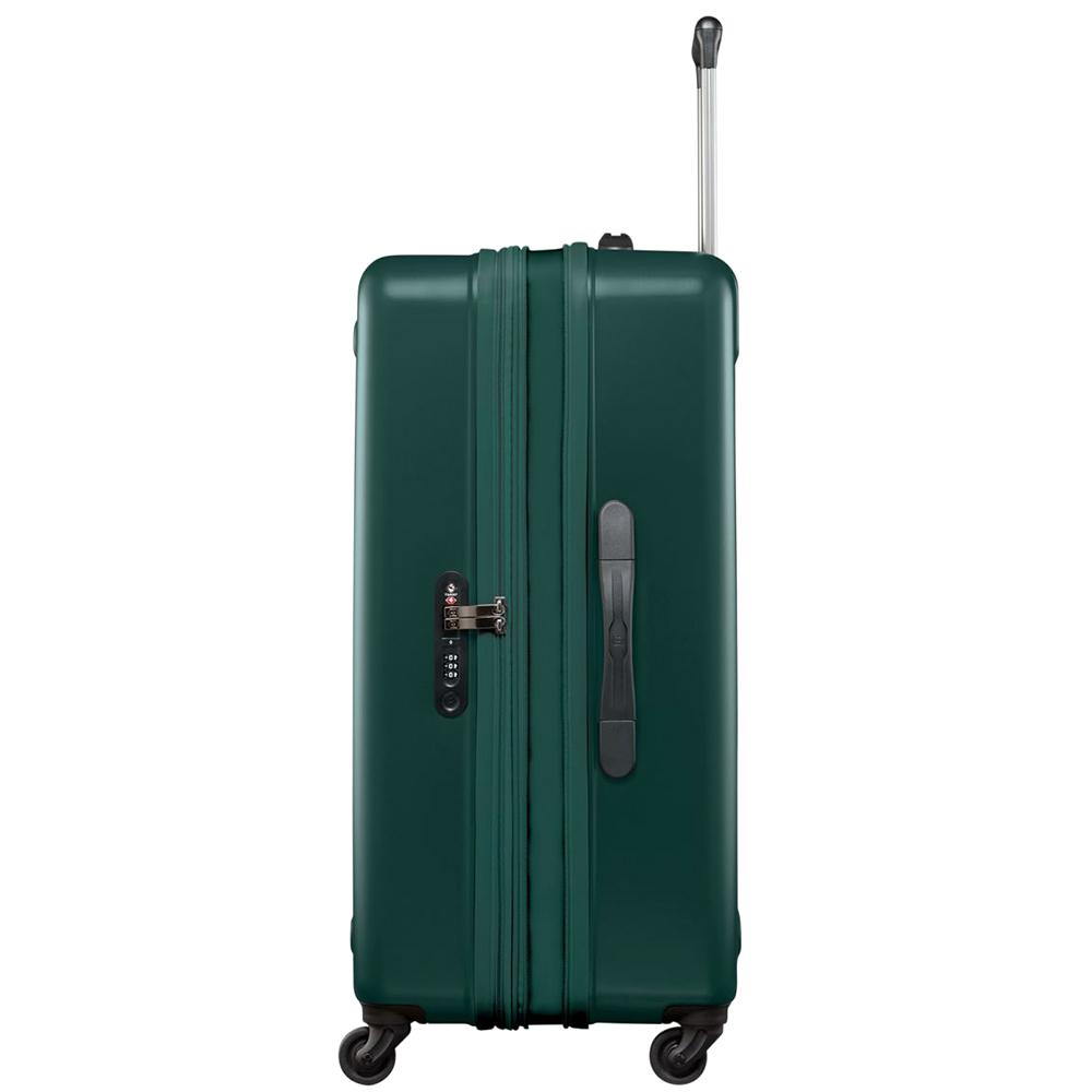 Большой чемодан 75х47х31-35см Victorinox Etherius Evergreen с корпусом зеленого цвета