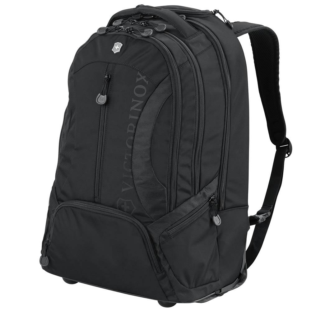 Черный рюкзак на колесах Victorinox Vx Sport Wheeled Scout