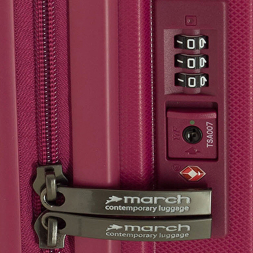 Малиновый чемодан среднего размера 66x47x26см March Vienna для путешествий, фото