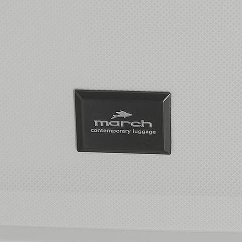 Чемодан маленького размера 55х39х22см March Vienna в белом цвете, фото