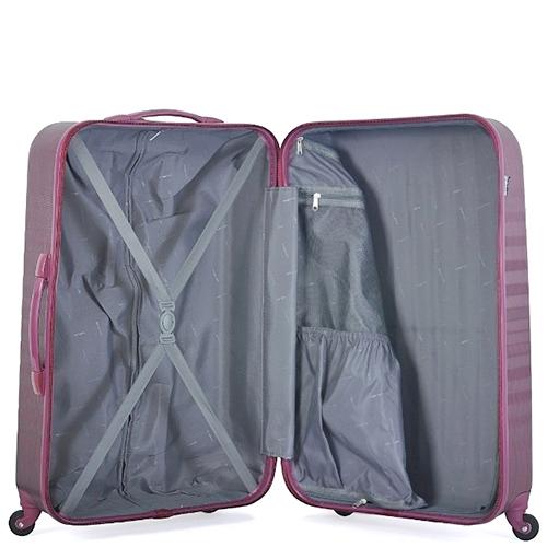 Большой чемодан цвета бургунди 75х30х47см March Ribbon на молнии, фото