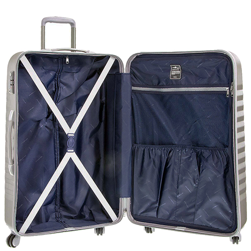 Больной чемодан 75х30х47см March Ribbon цвета металл для путешествий, фото