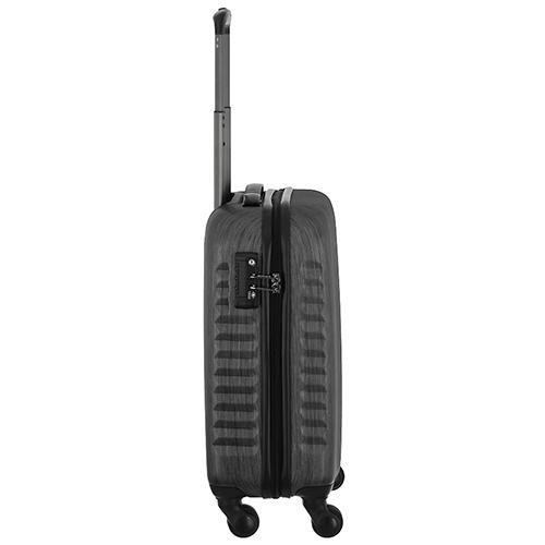 Черный маленький чемодан 55х35х20см March Ribbon с корпусом из поликарбоната с пластиком ABS, фото