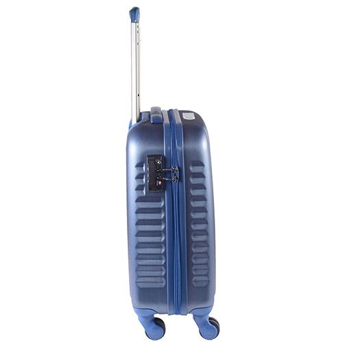 Маленький синий чемодан 55х35х20см March Ribbon с замком блокировки TSA, фото