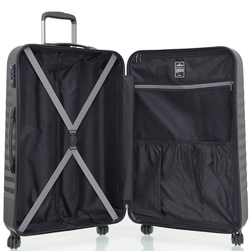 Набор чемоданов черного цвета March Ribbon с 4х колесной системой, фото