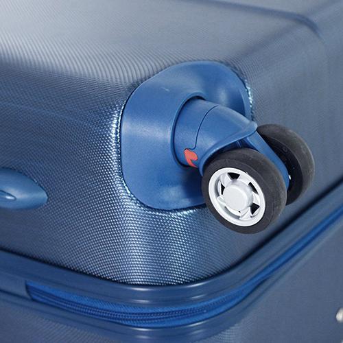 Синий среднего размера чемодан 65x47x26см March New Carat с матовым покрытием, фото