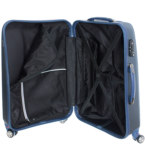 Набор синих чемоданов March New Carat для путешествий, фото
