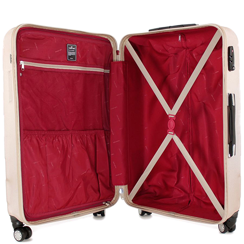 Набор чемоданов March Bumper с корпусом бежевого цвета, фото