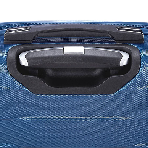 Чемодан синего цвета 76х30х48см March Bumper большого размера на молнии, фото