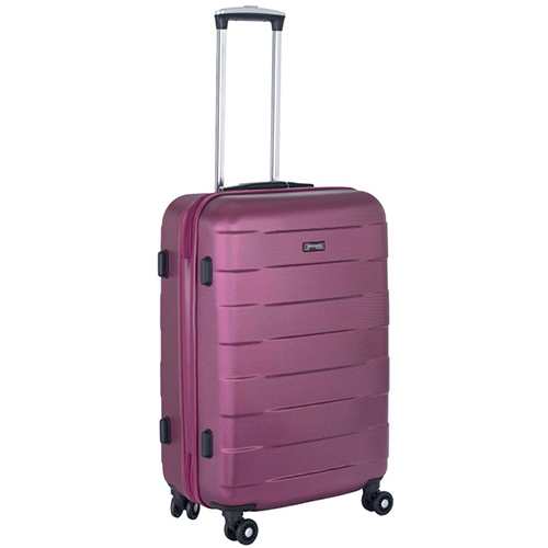 Малиновый чемодан 66x42x26см March Bumper среднего размера для путешествий, фото