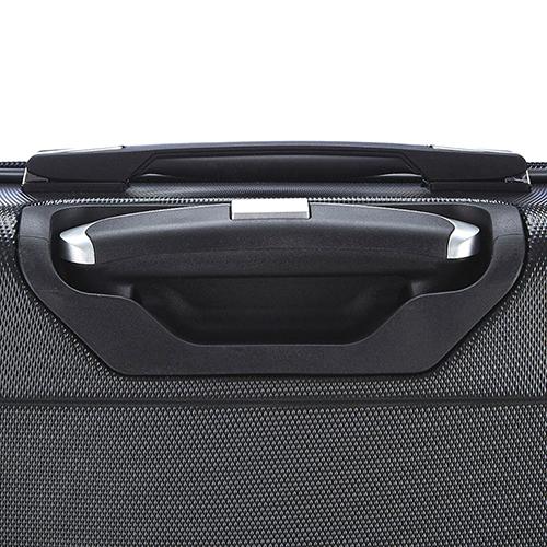 Маленький черный чемодан 55х35х20см March Bumper с 2х колесной системой, фото