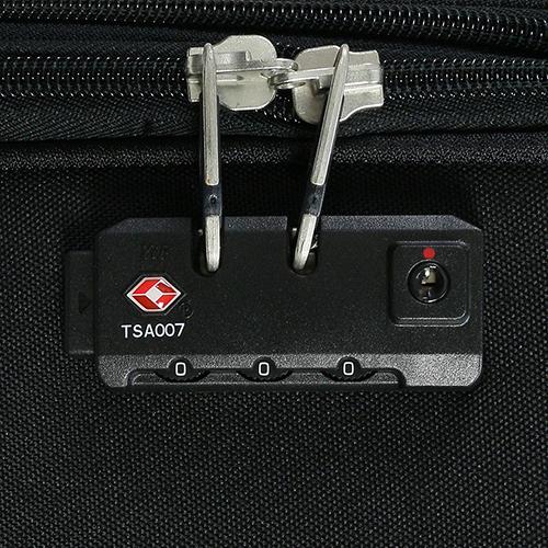 Большой черный чемодан 77х30х47см March Carter SE с замком блокировки TSA, фото