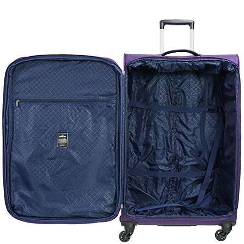 Среднего размера фиолетовый чемодан 67x42x27см March Carter SE с функцией расширения, фото
