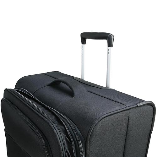 Черный чемодан 67x42x27см March Carter SE среднего размера с функцией расширения, фото