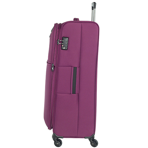 Большой фиолетовый чемодан 77х29х47см March Flybird с корпусом из нейлона, фото