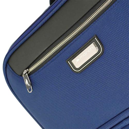 Маленький синий чемодан 55х35х20см March Flybird с корпусом из нейлона, фото