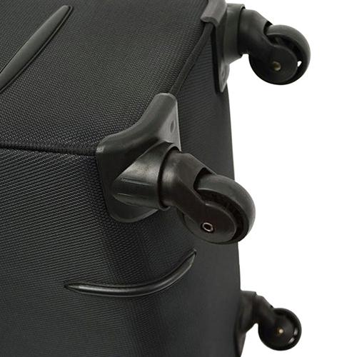 Маленький черный чемодан 55х35х20см March Flybird с корпусом из нейлона, фото
