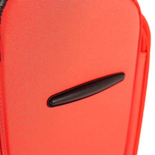 Среднего размера чемодан 67x43x26см March Focus с корпусом красного цвета, фото