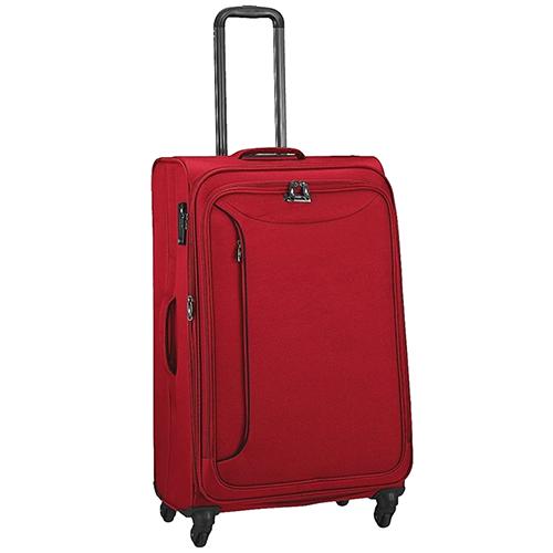 Большой красный чемодан 78х47х29см March Delta с функцией расширения, фото