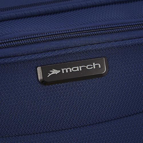 Чемодан 78х47х29см March Delta большого размера с корпусом в синем цвете, фото