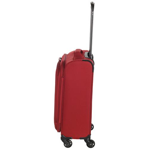 Маленький чемодан 55х35х20см March Delta с корпусом из нейлона в красном цвете, фото