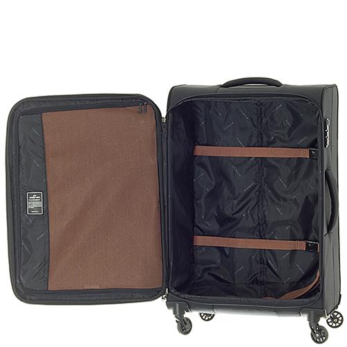 Черный чемодан 67x42x27см March Lite среднего размера, фото