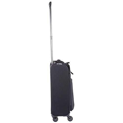 Маленький черный чемодан 55х35х20см March Lite с телескопической ручкой, фото