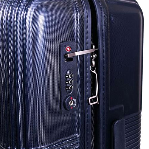 Большой чемодан 77х29х54см March Avenue с корпусом синего цвета из поликарбоната, фото