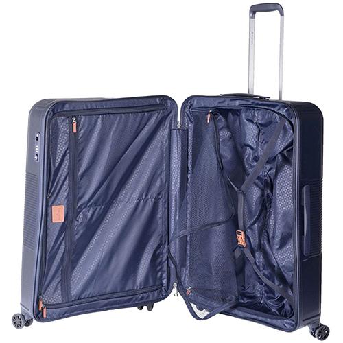 Средний чемодан синего цвета 66x25x46см March Avenue с 4х колесной системой, фото