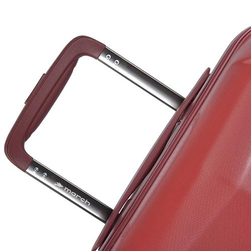 Большой чемодан 77х28х52см March Vision с корпусом красного цвета из поликарбоната, фото