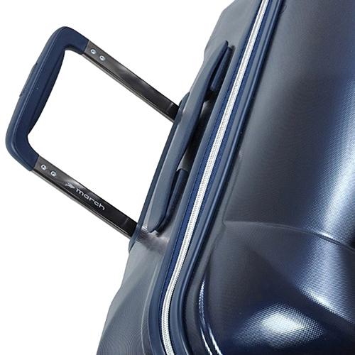 Чемодан синего цвета 55х38х20см March Vision размера ручной клади, фото