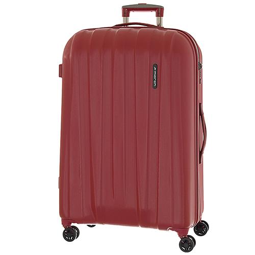 Набор красных чемоданов March Rocky с замком блокировки TSA, фото