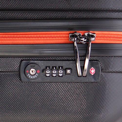 Большой черный чемодан 78х27х49см March Rocky с 4х колесной системой, фото