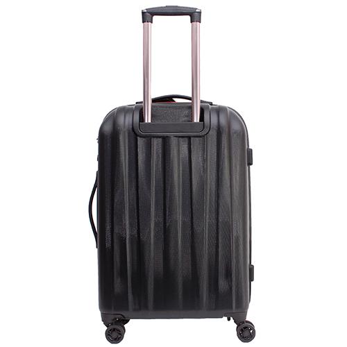 Среднего размера чемодан 68x45x23см March Rocky черного цвета на молнии, фото