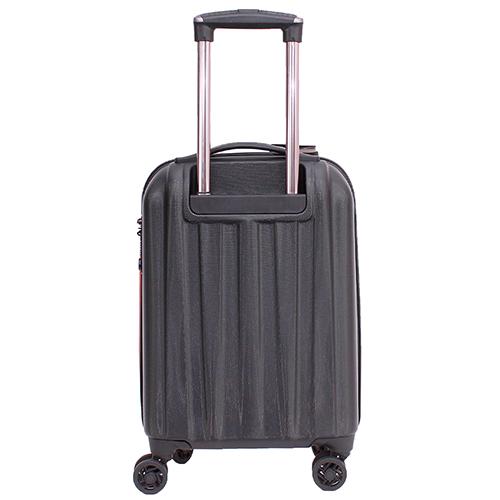 Маленький чемодан 55х35х20см March Rocky в черно-оранжевом цвете, фото