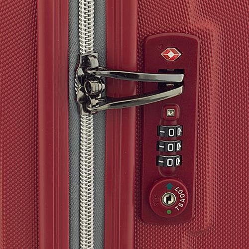 Маленький красный чемодан 55х35х20см March Rocky с 4х колесной системой, фото