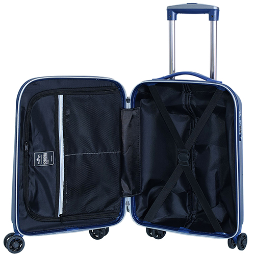 Маленький чемодан 55х35х20см March Rocky с корпусом синего цвета, фото