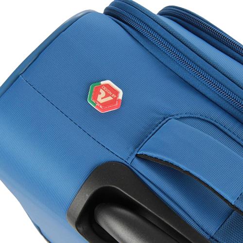 Чемодан синего цвета 55х40х20см Roncato Roma с 4х колесной системой, фото