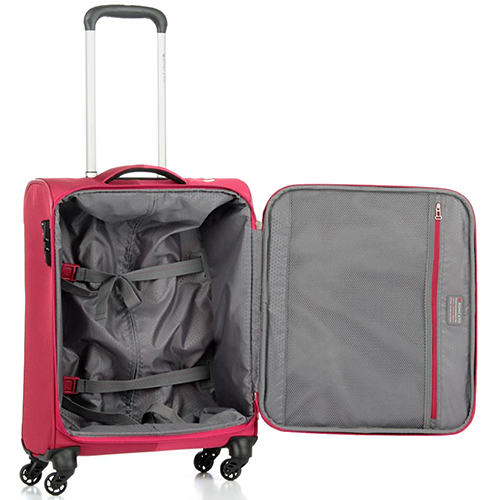 Маленький красный чемодан 55х40х20см Roncato Roma размера ручной клади, фото